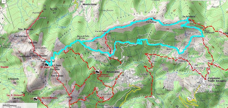 Valle brembana resegone costa del palio zuc di valmana for Rifugio resegone valle imagna